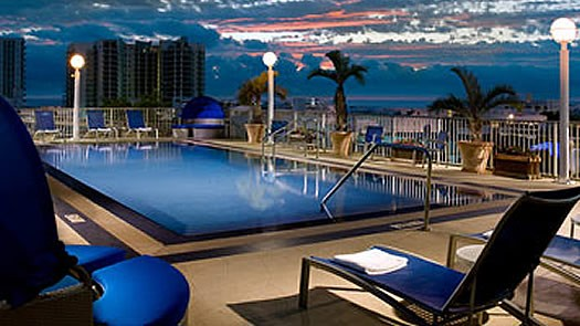 Courtyard Miami Beach Roof Top Views