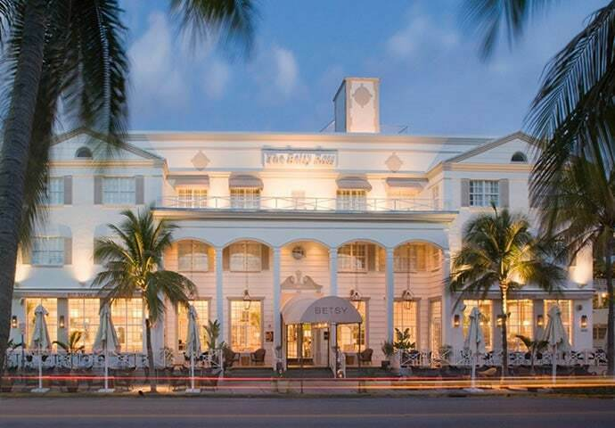 The fabulous Art Deco Betsy Hotel in Ocean Drive Miami Beach