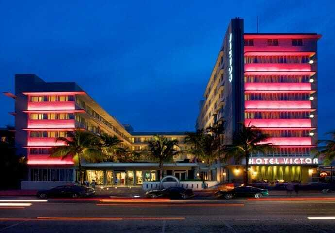 The suggestive Victor Hotel in Ocean Drive Miami Beach.