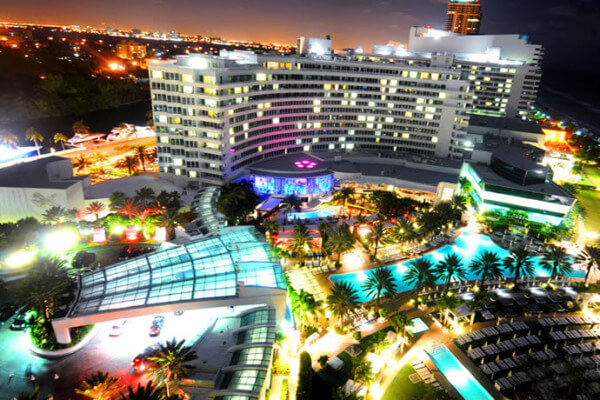 The Fontainebleau Hotel in Miami Beach