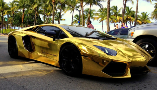 A Lambo in Miami Beach is similar to an institution!