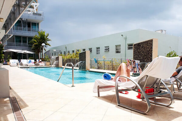 The pool of Z Ocean Hotel in Miami Beach