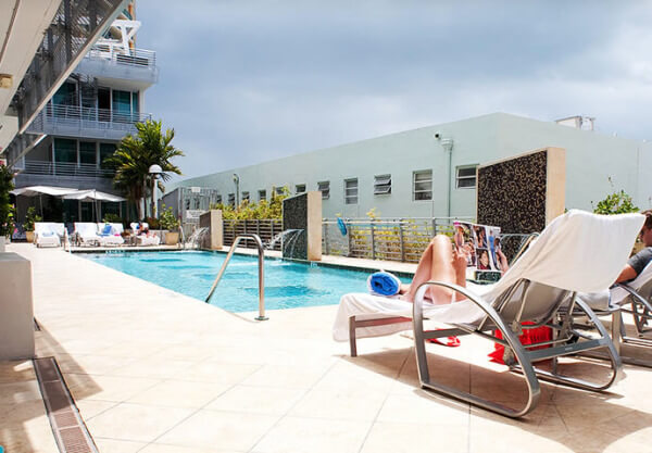 The pool of Z Ocean Hotel in Miami Beach
