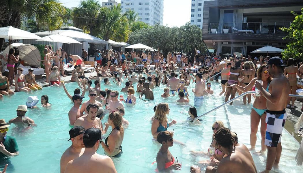 It's always a party at the Delano Hotel in Miami Beach!